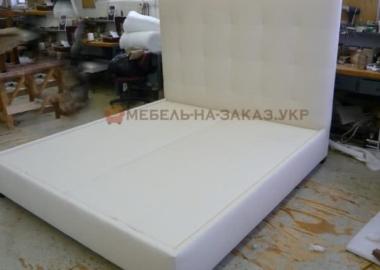 мягкая кровать белая на заказ