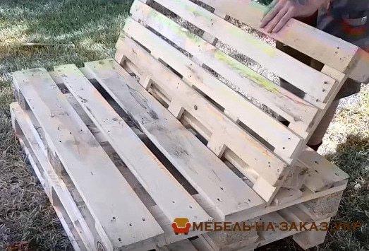 мебель из сатрых поддонов на заказ