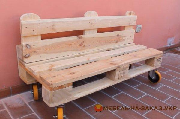 изготовление скамейки из поддонов под заказ Киев
