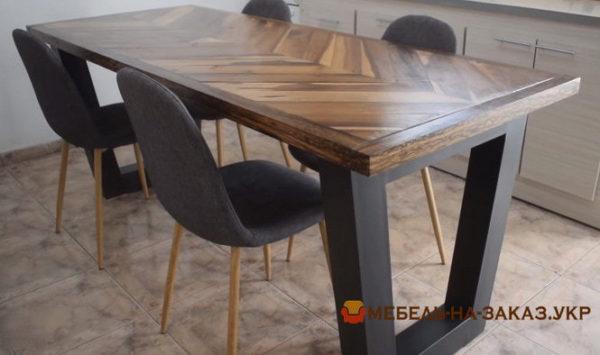 стол для переговоров с эпоксидной смолой на заказ с металлическими ножками