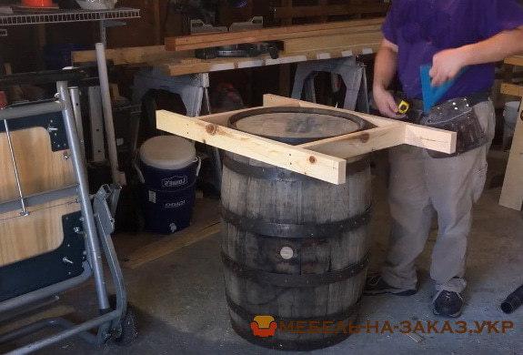 как сделать стол из бочки