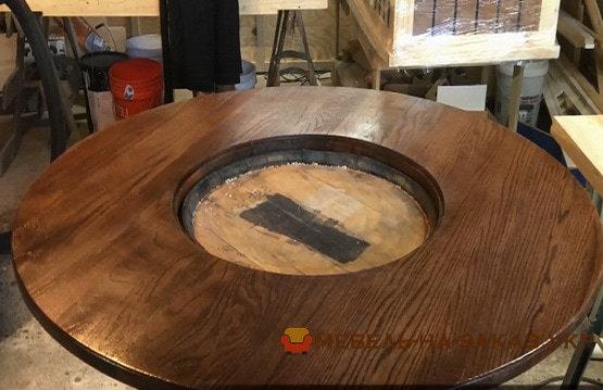 как сделать стол из бочки старой на заказ