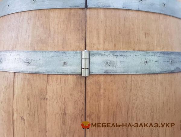 шкаф из старой деревянной бочки
