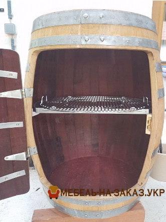 шкаф из старой деревянной бочки под заказ