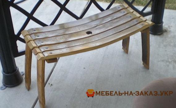 скамейка из бочки на заказ