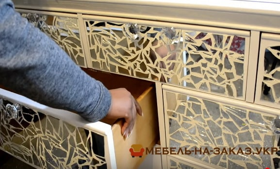 зеркальная мебель под заказ Печерский район