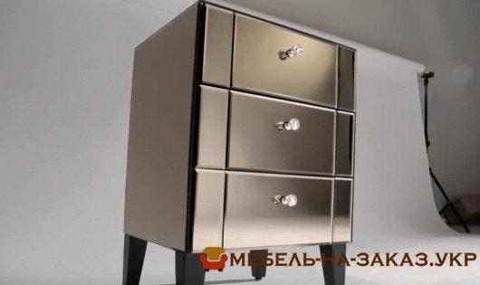 зеркальная корпусная мебель на заказ для спальни
