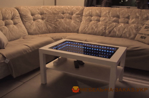 столик с цветной подсветкой на заказ