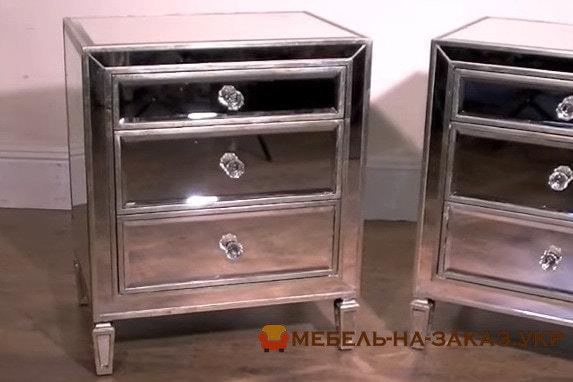 зеркальные прикроватные тумбы на заказ