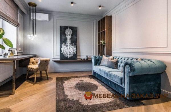продажа дивана для гостиной на заказ Печерск Синий