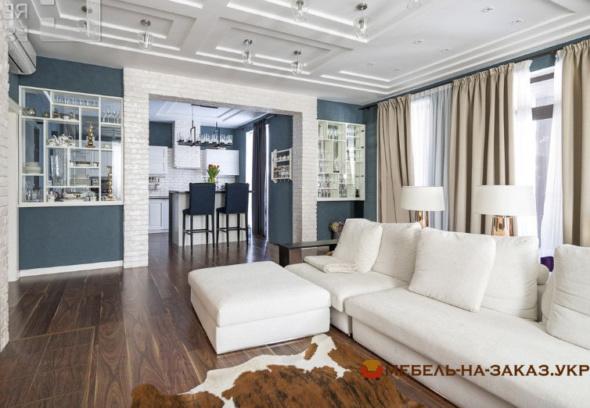 элитная заказная мебель в гостиную Новые петровцы