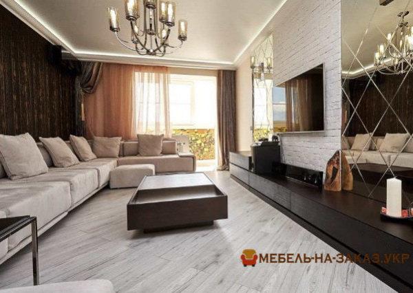 элитный угловой диван в гостиную на заказ Вишневое