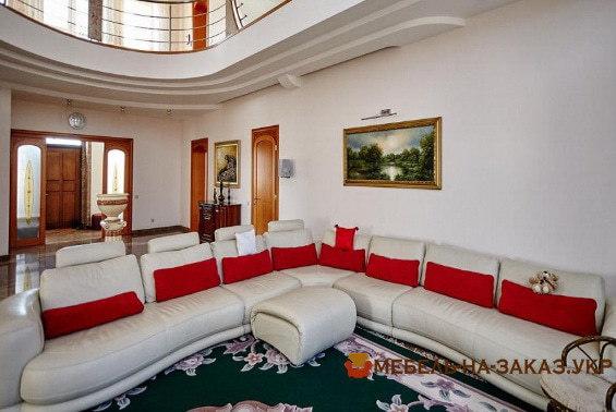 элитный угловой диван в гостиную на заказ Москва