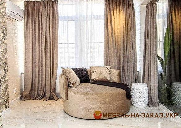 диван для гостиной лососевого цвета на заказ