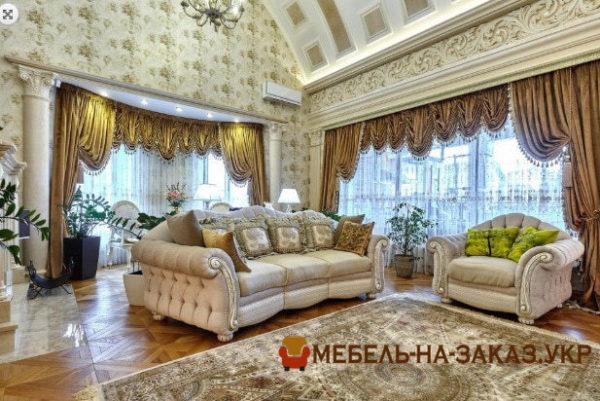 диван для гостиной лососевого цвета под заказ Киев