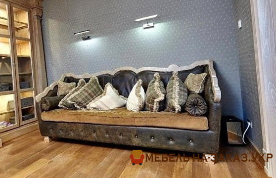 авторский серый диван на заказ