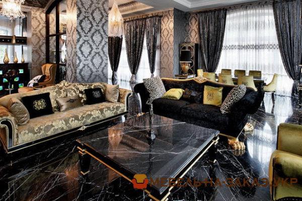 прямые диваны для элитной квартиры на заказ