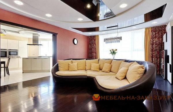 угловой круглый диван