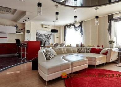 круглый белый модульный диван