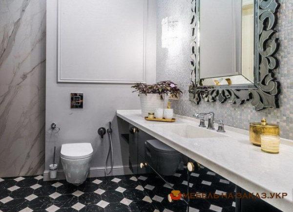 черная тумба в ванную на заказ в Киеве