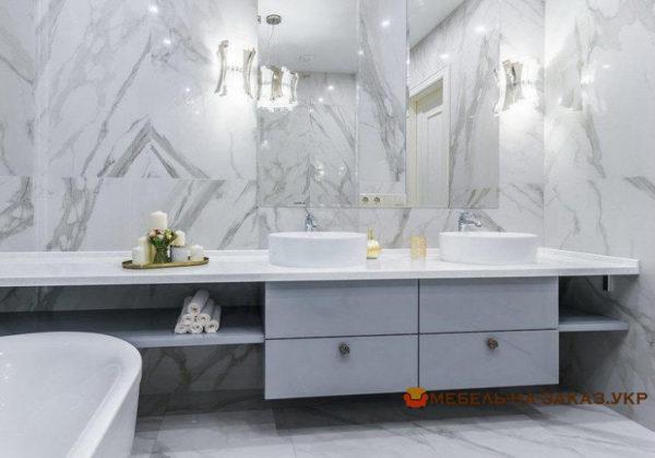 нестандартная мебель для ванной на заказ Новые петровцы