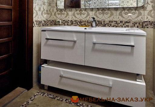 нестандартная мебель для ванной на заказ Вишневое