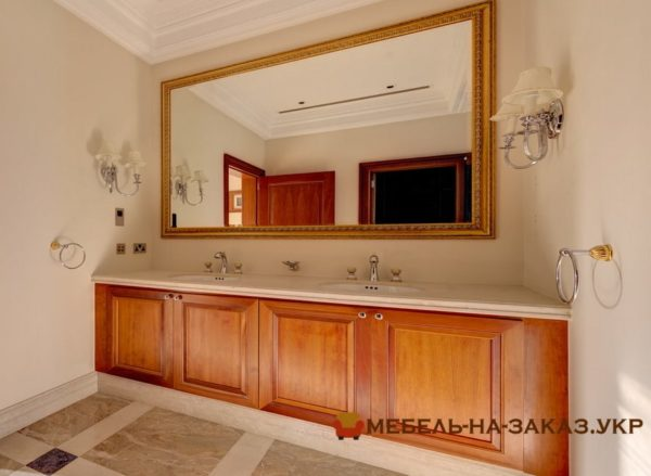 заказная мебель для туалета под заказ из массива