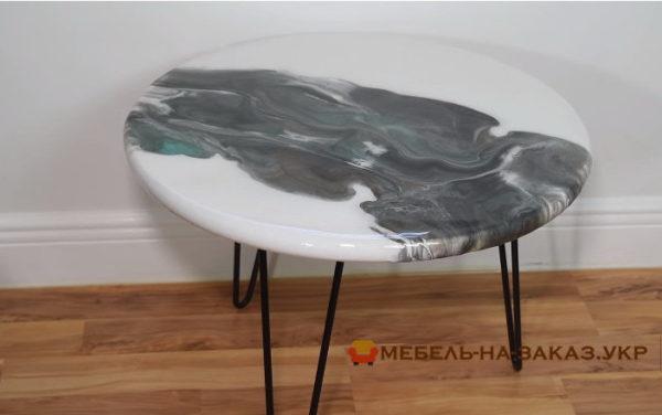 стол с в стиле лофт с Эпоксидной Смолой