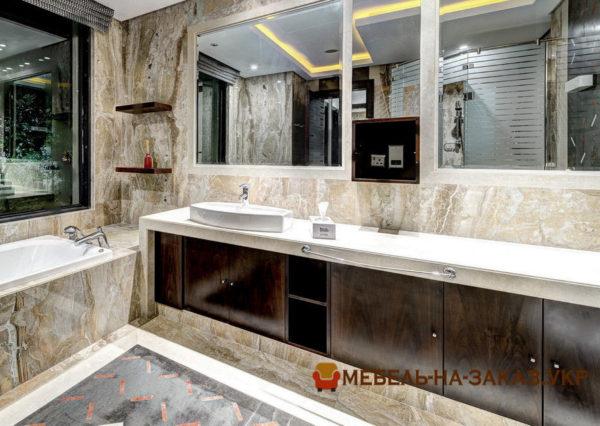 варианты мебели в ванную под заказ