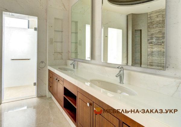 деревянная мебель в ванную на заказ