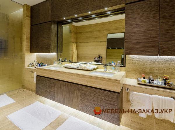 фотографии мебели для ванной для элитной квартиры с подсветкой
