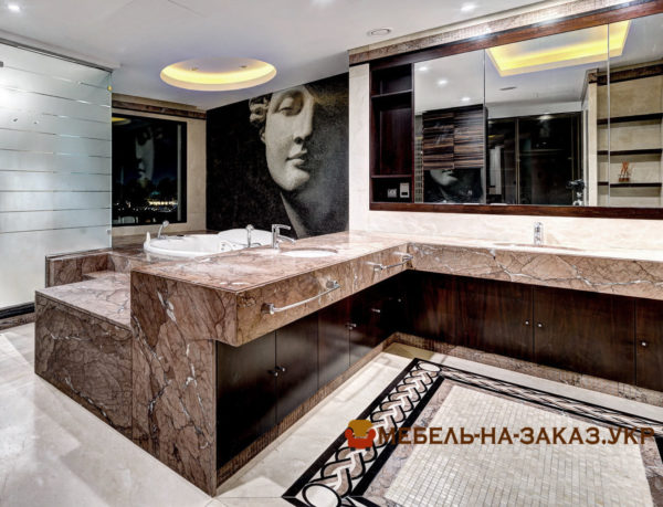 Мебель для ванной комнаты заказать