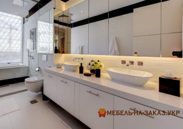 тумба в ванную с зеркалом под заказ Украина