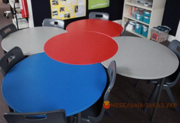 радиусные детские столы на заказ