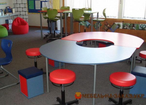 детский круглый модульны стол под заказ