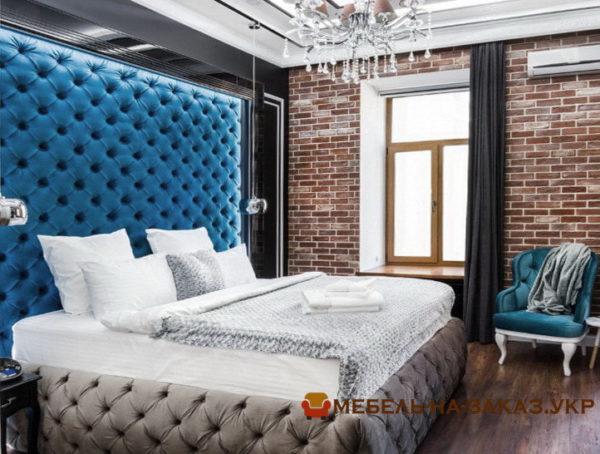 мягкая кровать на заказ Вишневое