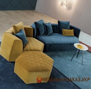разнойветный угловой диван под заказ
