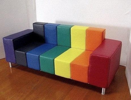 детский расноцветный диван заказной