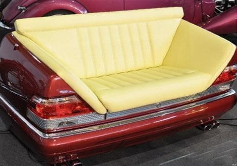 изготовление авторских диванов из авто под заказ