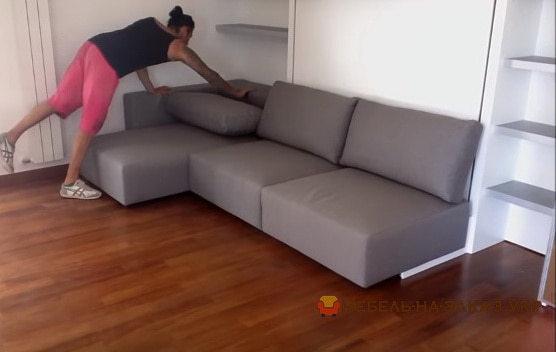раскладной белый угловой диван
