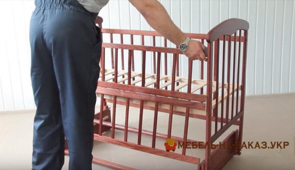 сборка детской кроватки с маятником Софиевская Борщяговка