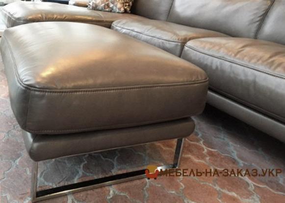 угловой диван в гостиную из кожи