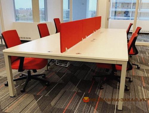красные перегородки в офис