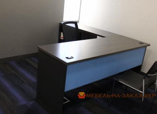 офисная мебель синего цвета