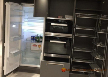 серый кухонный шкаф на заказ