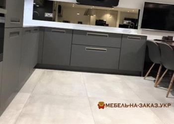 кухня серая Мдф