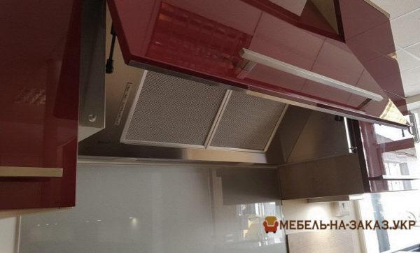 изготовление кухни красного цвета на заказ
