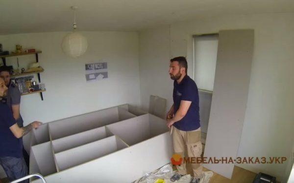 проект шкафа-купе для спальни на заказ