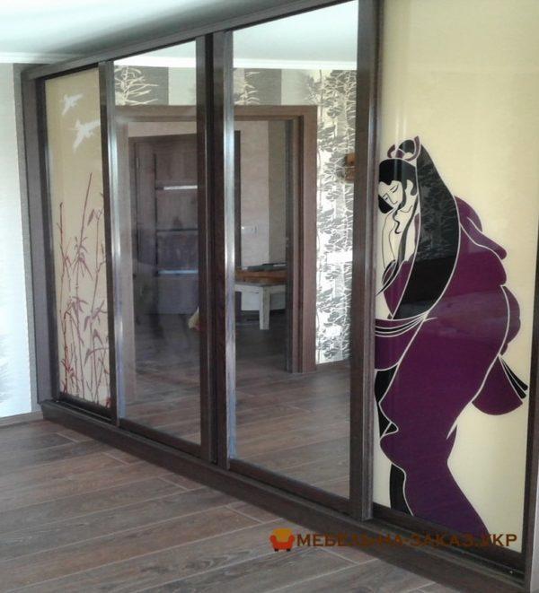 дизайн проект шкафа-купе в гостинную Одесса