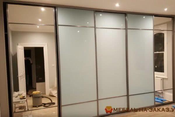 изготовление шкафа-купе с зеркальными дверями на заказ